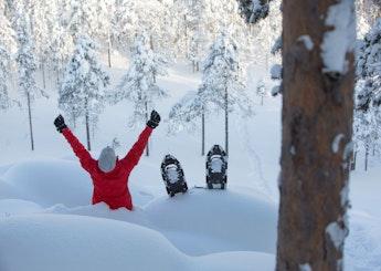 Snöskotur: Snöskotur i Råneälvdalen